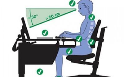 Как сохранить осанку при работе за компьютером